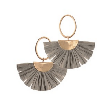 CRESCENT RAFFIA EARRINGS
