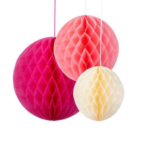 PAPER HONEYCOMB DECORATIONS | PACK 3