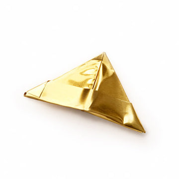 METALLIC ORIGAMI HAT BROOCH | BRASS
