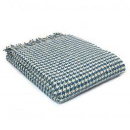 PURE NEW WOOL HOUNDSTOOTH THROW | INK