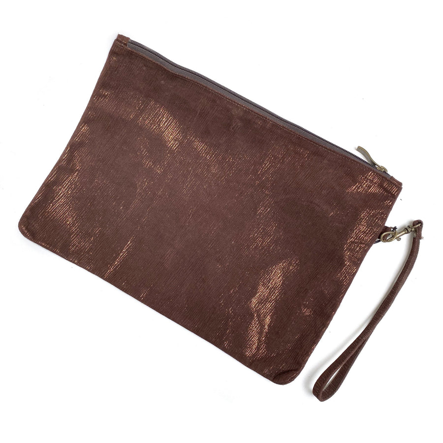 LEATHER POUCH WITH WRISTBAND