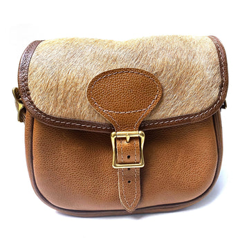LEATHER CARTRIDGE BAG WITH HIDE