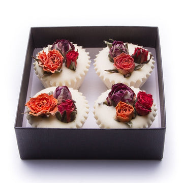 ROSE GERANIUM & LAVENDER BATH MELTS | BOX 4