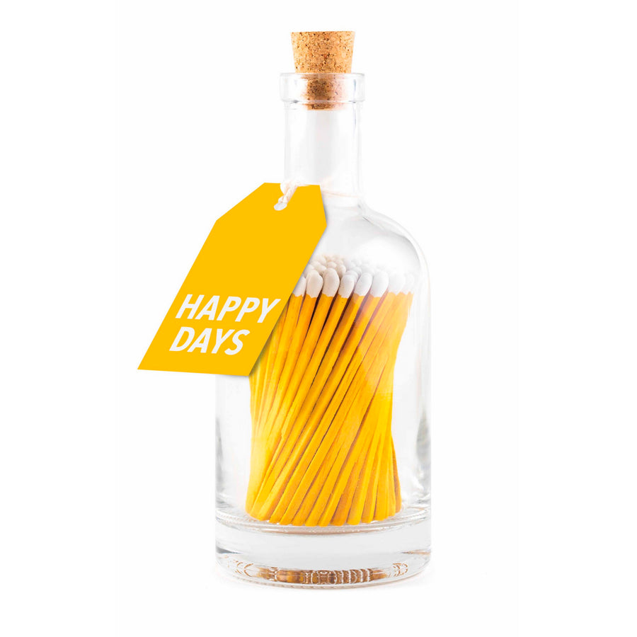 BOTTLE OF MATCHES | YELLOW HAPPY DAYS