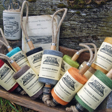 JUTE TWINE ON HANGING RECYCLED LANCASHIRE BOBBIN