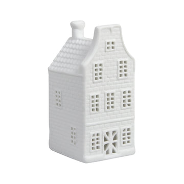 WHITE CANAL HOUSE TEALIGHT HOLDER | CLOCK GABLE