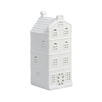 WHITE CANAL HOUSE TEALIGHT HOLDER | SPOUT GABLE