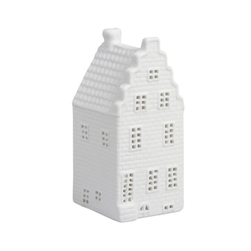 WHITE CANAL HOUSE TEALIGHT HOLDER | STAIRS GABLE