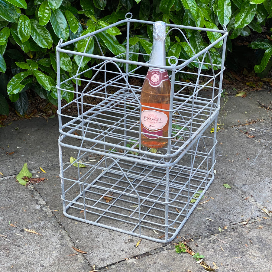 INDUSTRIAL WIRE BOTTLE CRATE