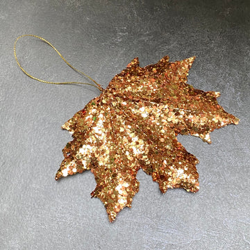 GLITTER MAPLE LEAF