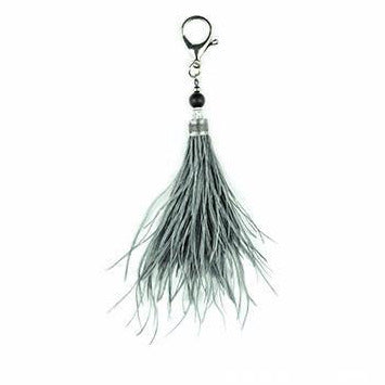 OSTRICH FEATHER KEYRING