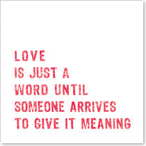 CARD | LOVE IS JUST A WORD