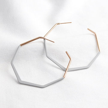 OCTAGONAL HOOP EARRINGS