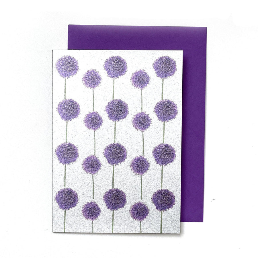 CARD | METALLIC PURPLE ALLIUM