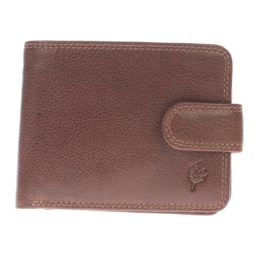 GENTS LEATHER WALLET WITH TAB FASTENING