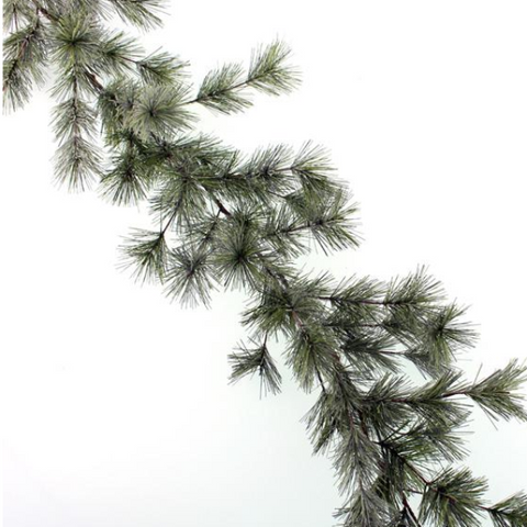 FLOCKED PINE GARLAND