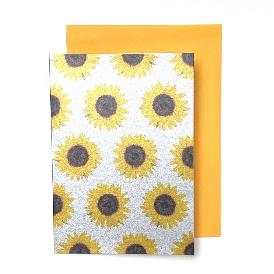 CARD | METALLIC YELLOW SUNFLOWER