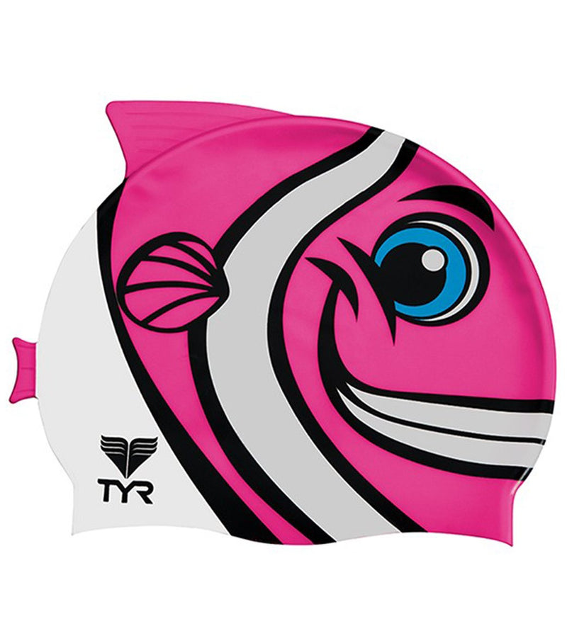 TYR CharacTYR Happy Fish Junior Silicone Cap