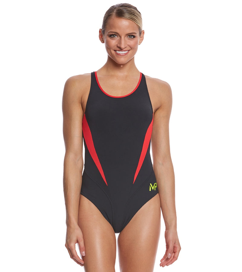MP Michael Phelps Women's Splice Comp Back One Piece Swimsuit