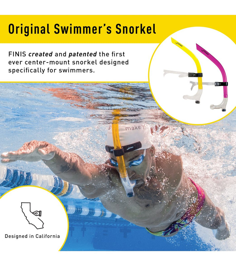 FINIS Original Swimmer's Swim Snorkel Pink