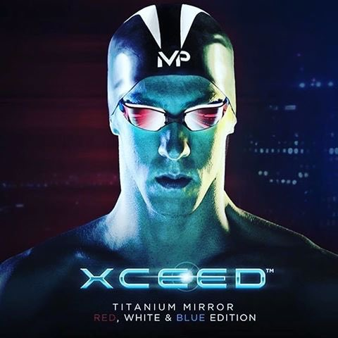 Phelps Xceed Gold Titanium Mirrored Lens Swim Goggle- Kuwait Local shipping (1-3 Days)