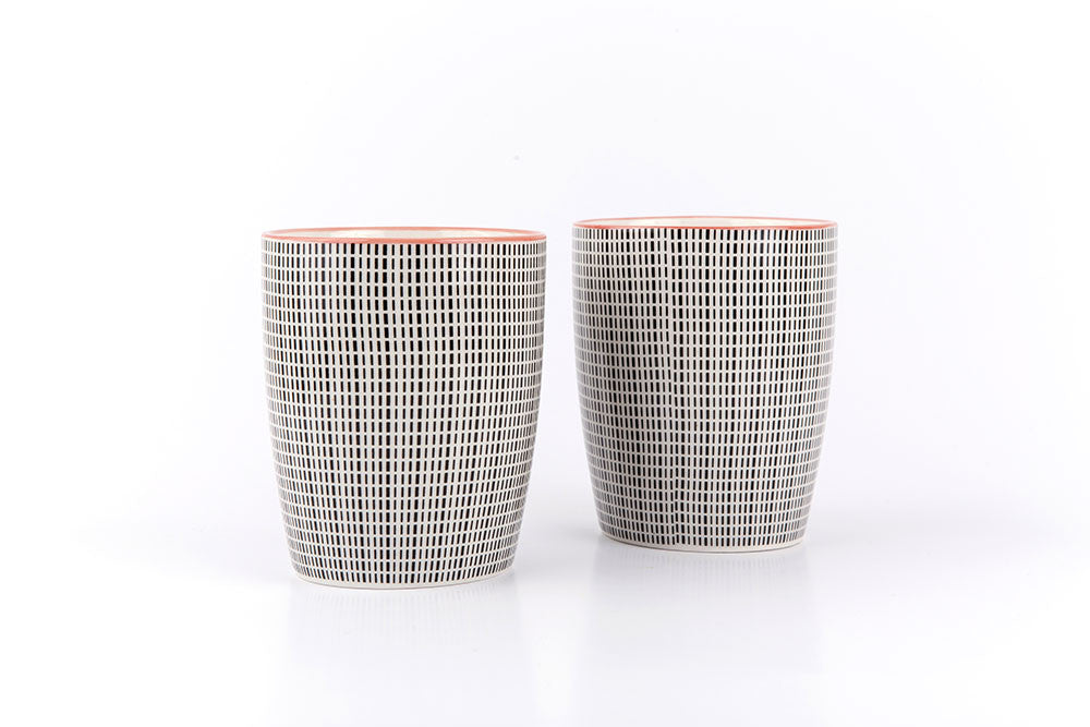 Asian printed ceramic cups