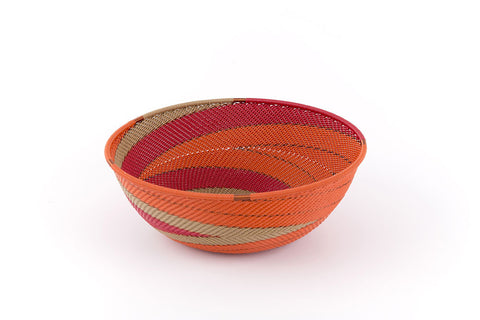 African bowl from telephone wire