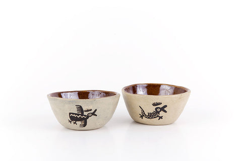 African animal printed ceramic cup set