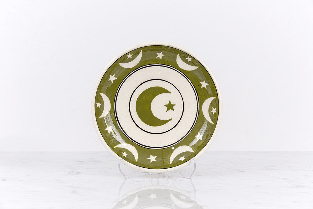 Plate with crescent&star - Sıtkı Olçar