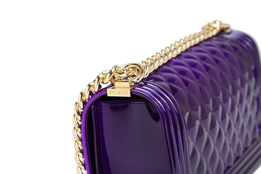 Chance Crystal Violet with gold hardware