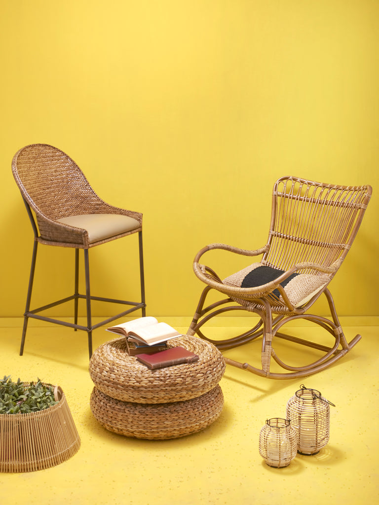 Yellow & Natural Wood Chairs