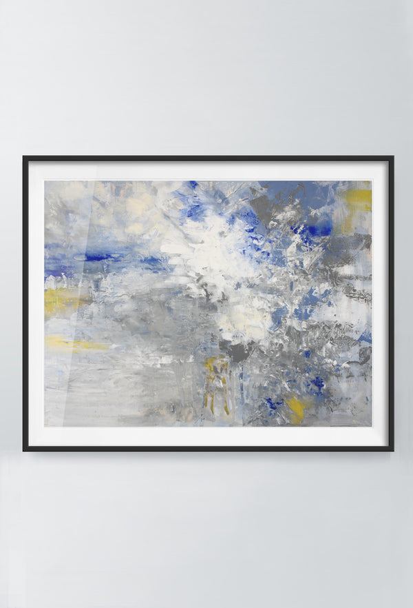 Indy Razz | Art Prints | Blue & Yellow