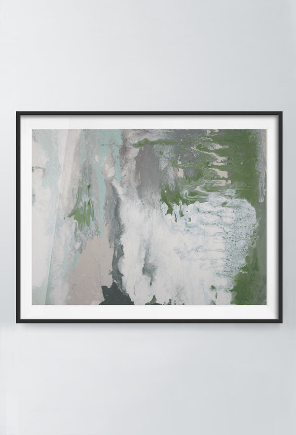 Indy Rush | Art Prints | Green & Grey