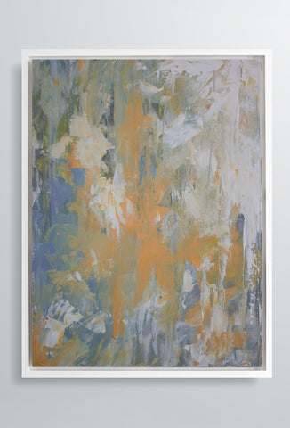 Marea Haze | Canvas Art Prints | Orange