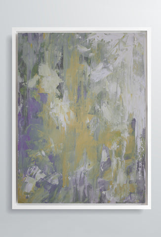 Marea Haze | Canvas Art Prints | Purple & Yellow