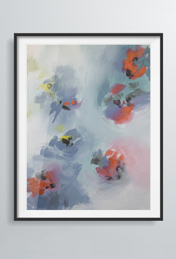 Rosa Wisp | Art Prints | Blue & Orange