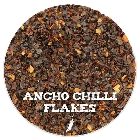 Ancho Chili Flakes, Ground Spice from Spicewells, UK