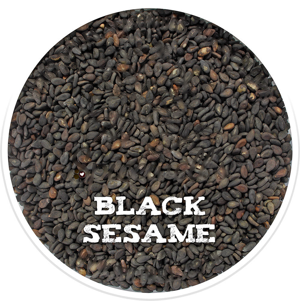 Sesame Seeds, Black, Whole Spices from Spicewells, UK
