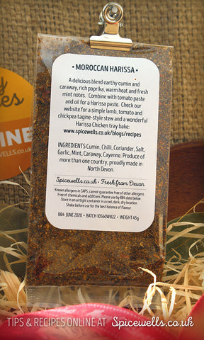 Harissa Spice Blend, Spice Blend from Spicewells, UK