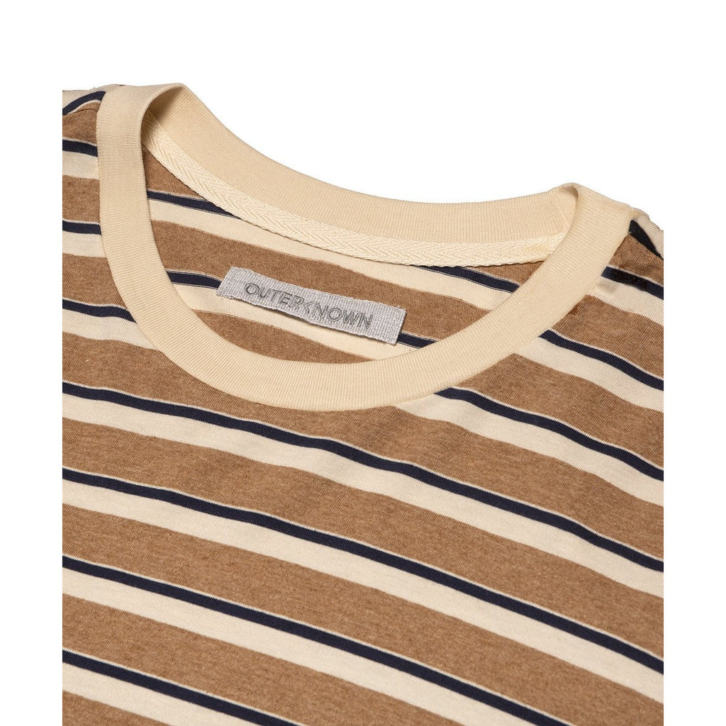 Outerknown - Canyon Stripe Tee - Marine
