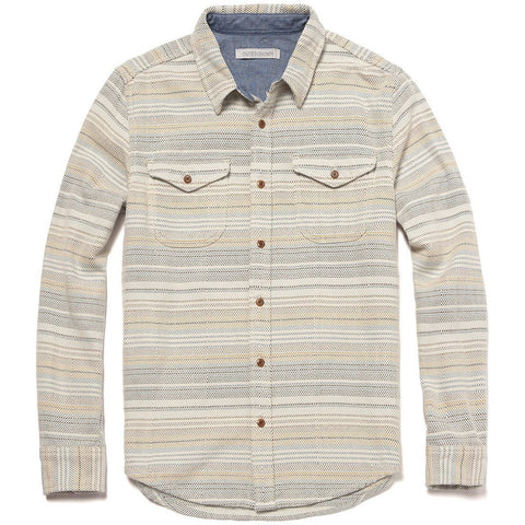 Outerknown - Blanket Shirt - Blue Mist Mojave Stripe