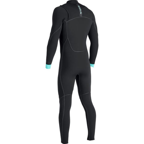 North Seas  4/3 Chest Zip Full Wetsuit - Black