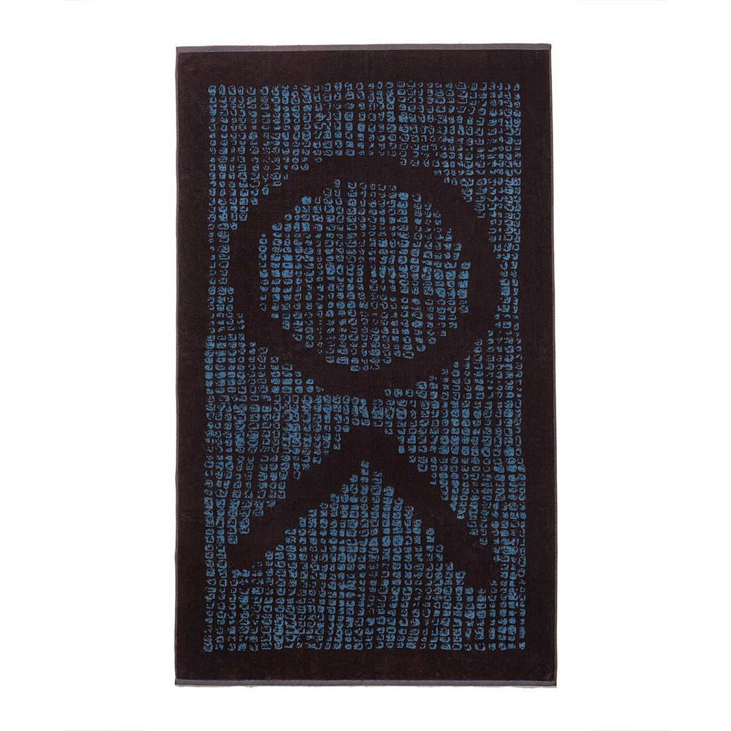 The Beach Towel - Blue/Black