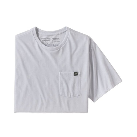 Patagonia - M's Flying Fish Label Pocket Responsibili-Tee - White