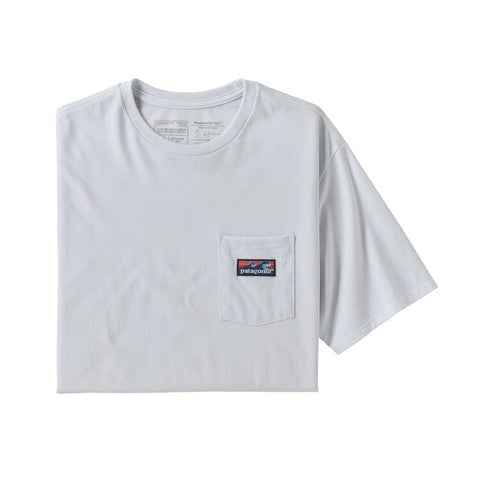 Patagonia - M's Boardshort Label Pocket Responsibili-Tee - White