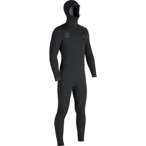 Seven Seas  5/4/3 Hooded Chest Zip Full Wetsuit - Black Fade