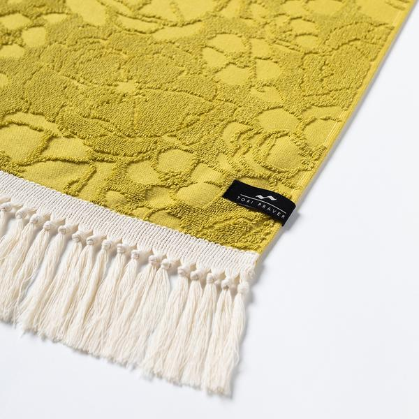 Slowtide - French Bloom Towel - Mustard