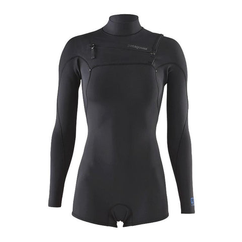 Women's R1 Lite Yulex Front Zipped Long Sleeved Spring Suit - Black