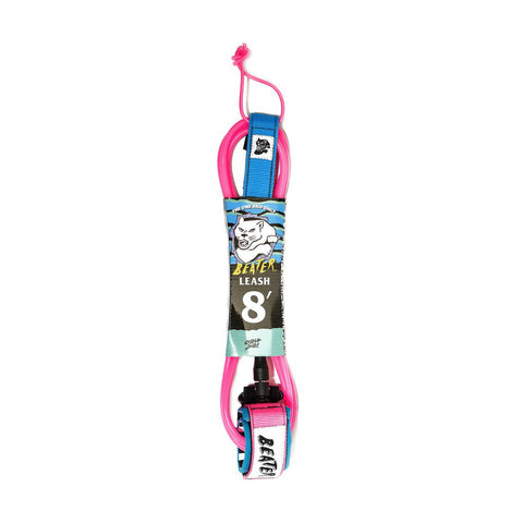 Beater 8 ft Leash - Pink