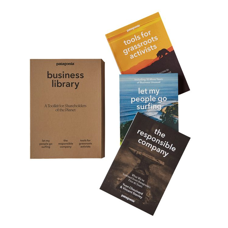 Patagonia Business Library (3 Paperback Books In A Cardboard Keepsake Box)